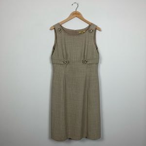 Alex Marie Brown Sleeveless Shift Dress 10